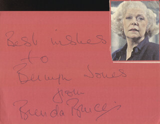 BRENDA BRUCE - AUTOGRAPH NOTE SIGNED