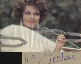 CLEO LAINE - PHOTOGRAPH MOUNT SIGNED