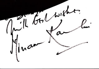 MIRIAM KARLIN - AUTOGRAPH SENTIMENT SIGNED