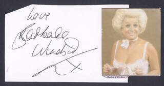 BARBARA WINDSOR - AUTOGRAPH SENTIMENT SIGNED