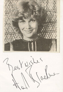 HONOR BLACKMAN - PICTURE POST CARD SIGNED