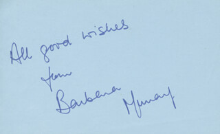 BARBARA MURRAY - AUTOGRAPH SENTIMENT SIGNED