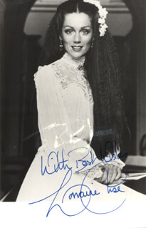 LORRAINE CHASE - AUTOGRAPHED SIGNED PHOTOGRAPH