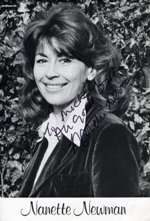 NANETTE NEWMAN - AUTOGRAPHED INSCRIBED PHOTOGRAPH