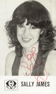 SALLY JAMES - AUTOGRAPHED SIGNED PHOTOGRAPH