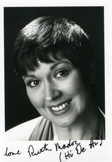 RUTH MADOC - AUTOGRAPHED SIGNED PHOTOGRAPH