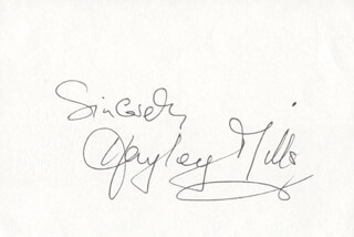 HAYLEY MILLS - AUTOGRAPH SENTIMENT SIGNED