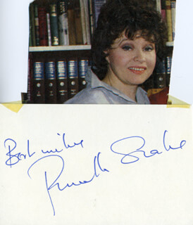 PRUNELLA SCALES - AUTOGRAPH SENTIMENT SIGNED