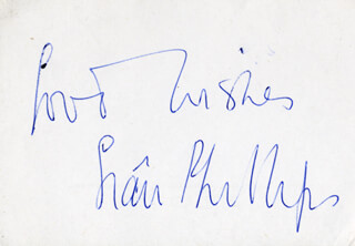 SIAN PHILLIPS - AUTOGRAPH SENTIMENT SIGNED
