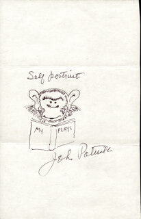 JOHN PATRICK - SELF-CARICATURE SIGNED