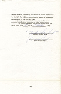 JUDY GARLAND - DOCUMENT SIGNED 10/15/1963 CO-SIGNED BY: SIDNEY LUFT