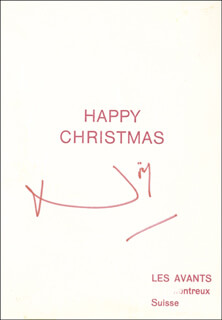 SIR NOEL COWARD - CHRISTMAS / HOLIDAY CARD SIGNED