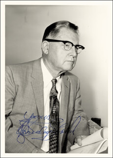 ERLE STANLEY GARDNER - AUTOGRAPHED SIGNED PHOTOGRAPH