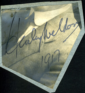HARRY WELDON - AUTOGRAPH 1917