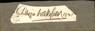 DUGGIE WAKEFIELD - AUTOGRAPH 1941 CO-SIGNED BY: JACK WARNER, SCOTT & WHALEY (EDDIE WHALEY)