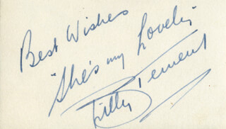 BILLY TERNENT - AUTOGRAPH QUOTATION SIGNED