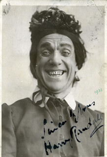 HARRY (THOMAS WILLIAM) RANDALL - AUTOGRAPHED SIGNED PHOTOGRAPH