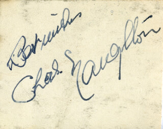 CHARLES NAUGHTON - AUTOGRAPH SENTIMENT SIGNED