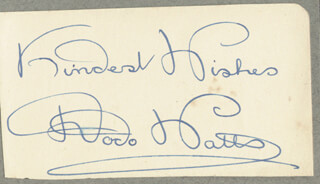 DODO (DOROTHY) WATTS - AUTOGRAPH SENTIMENT SIGNED