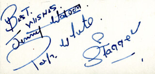 JIMMY WATSON - AUTOGRAPH SENTIMENT SIGNED CO-SIGNED BY: PAP WHITE