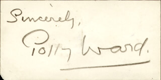 POLLY WARD - AUTOGRAPH SENTIMENT SIGNED