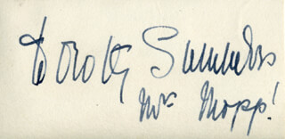 DOROTHY SUMMERS - AUTOGRAPH
