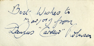 DAURUS CARDEW ROBINSON - AUTOGRAPH NOTE SIGNED