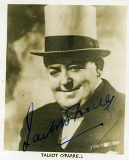 TALBOT O'FARRELL - AUTOGRAPHED SIGNED PHOTOGRAPH
