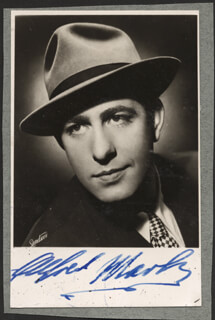 ALFRED MARKS - AUTOGRAPHED SIGNED PHOTOGRAPH