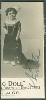 Autographs: ANITA THE LIVING DOLL - PRINTED PHOTOGRAPH SIGNED IN INK