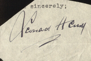 LEONARD HENRY - TYPED SENTIMENT SIGNED