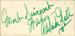 ADELAIDE HALL - AUTOGRAPH SENTIMENT SIGNED
