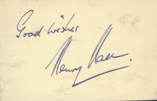 HENRY HALL - AUTOGRAPH SENTIMENT SIGNED