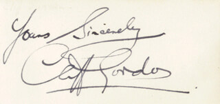 CLIFF GORDON - AUTOGRAPH SENTIMENT SIGNED