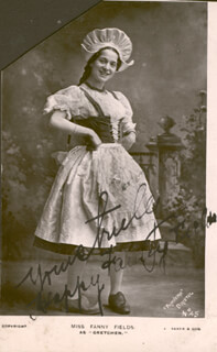 HAPPY FANNY FIELDS - PRINTED PHOTOGRAPH SIGNED IN INK