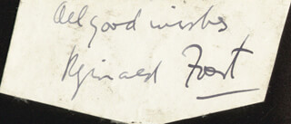 REGINALD FOORT - AUTOGRAPH SENTIMENT SIGNED