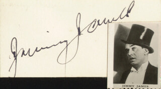 JIMMY JAMES - AUTOGRAPH