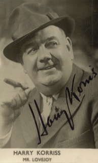 HARRY KORRIS - PRINTED PHOTOGRAPH SIGNED IN INK