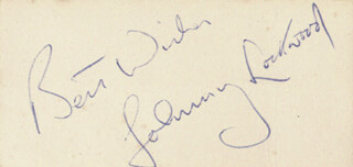 JOHNNY LOCKWOOD - AUTOGRAPH SENTIMENT SIGNED