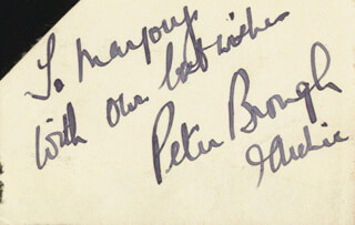 Autographs: PETER BROUGH - AUTOGRAPH NOTE SIGNED