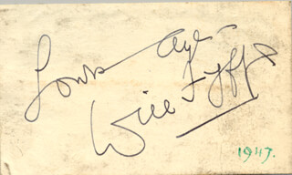 WILL FYFFE - AUTOGRAPH SENTIMENT SIGNED CIRCA 1947