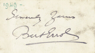 BERT ERROL - AUTOGRAPH SENTIMENT SIGNED