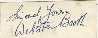 ZIEGLER & BOOTH (WEBSTER BOOTH) - AUTOGRAPH SENTIMENT SIGNED