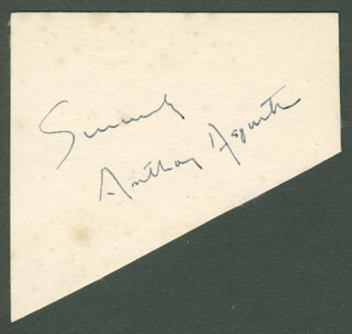 ANTHONY ASQUITH - AUTOGRAPH SENTIMENT SIGNED