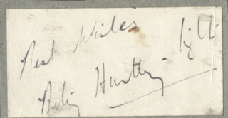 BETTY HUNTLEY-WRIGHT - AUTOGRAPH SENTIMENT SIGNED
