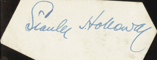 STANLEY HOLLOWAY - AUTOGRAPH