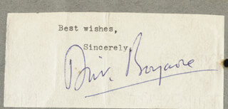 DIRK BOGARDE - TYPED SENTIMENT SIGNED