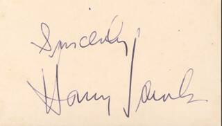 HARRY JAMES - AUTOGRAPH SENTIMENT SIGNED