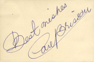 CARL BRISSON - AUTOGRAPH SENTIMENT SIGNED