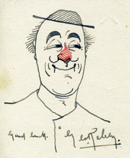GEORGE ROBEY - SELF-CARICATURE SIGNED